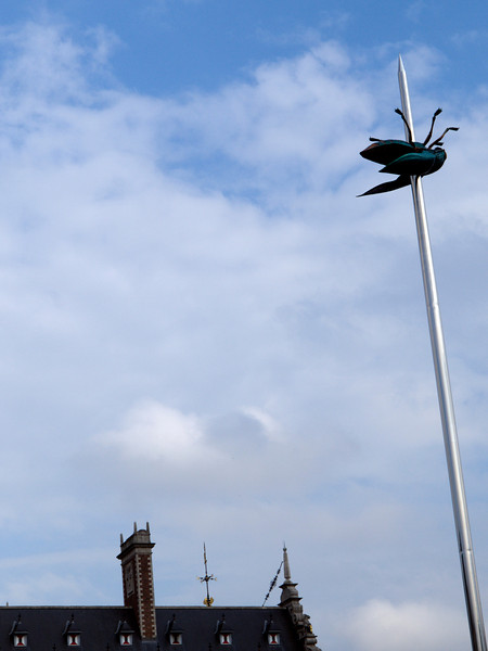 Ladeuzeplein, stick insect sculpture, Leuven<br /> Olympus E-420 & Zuiko 12-60mm/2.8-4.0