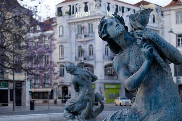 Praca do Rossio Fountain