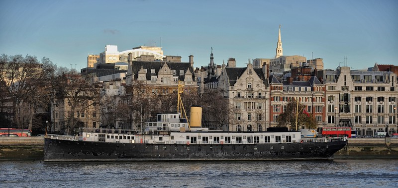 HMS President, Victoria Embankment, London.