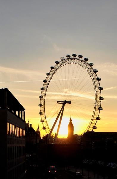London Eye & Big Ben from London Bridge