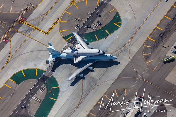 Space Shuttle Endeavour taxiing at LAX, shortly after finishing its final flight.