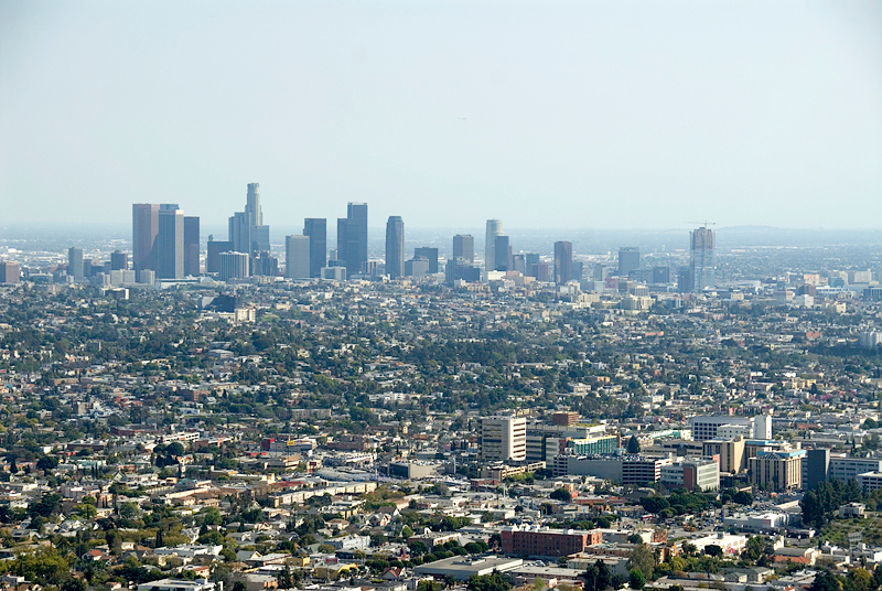 Los Angeles Skyline as seen from Griffith Observatory