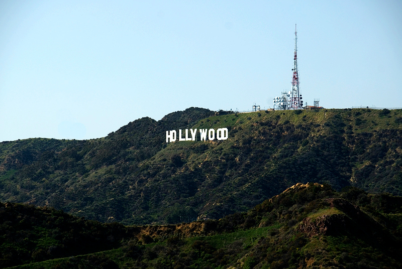 Los Angeles, Hollywood sign on top of Mt. Lee as seen from the Griffith Observatory