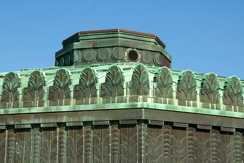 Los Angeles - Griffith Observatory - Central Roof Detail