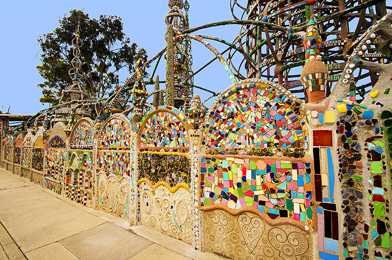 Watts Towers also called the Towers of Simon Rodia