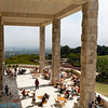 one of the patios of the getty