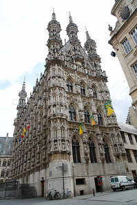 The Town Hall in Louvain (Leuven), Belgium.