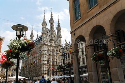 The Grand Square (Grote Markt) in Louvain (Leuven), Belgium.