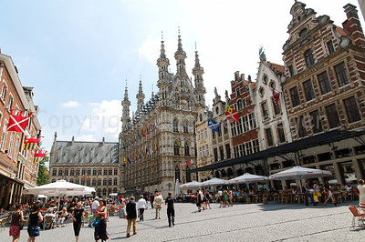 The Grand Square (Grote Markt) in Louvain (Leuven), Belgium.