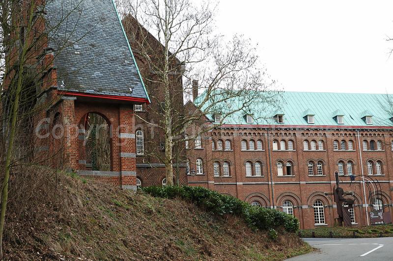 The neo-romanesque Abbey high on the Keizersberg (Emperor's Mountain) in Louvain (Leuven), Belgium.