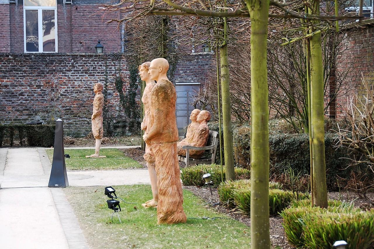 Some statues found in Maaseik, Belgium.