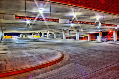 Mankato, Minnesota - Parking Garage at Night