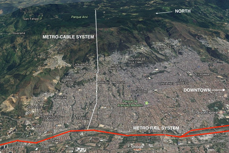 Pivoted Map of North Medellin