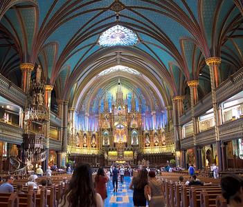 Inside Notre-Dame Basilica, Montréal