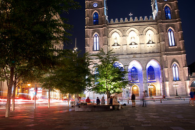 Notre-dame Basilica in the evening