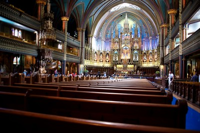 Interior of Notre-Dame Basilica, Montréal