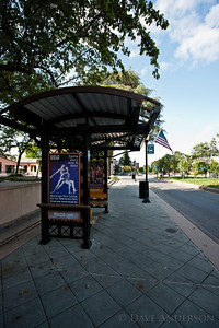 Bus stop at City Hall/Center for Performing Arts