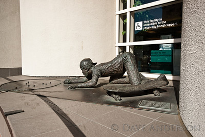 Bronze sculpture in front of clinic.