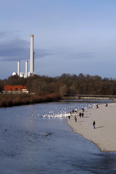 Isar, Power plant / Heizkraftwerk Süd, Thalkirchen, Munich<br /> Konica Minolta Dynax 7d
