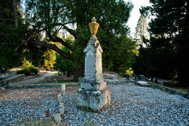 Inscription reads:<br /> <br /> Jos D.<br /> Born Dec. 17, 1873<br /> Died Aug. 14, 1874<br /> Jos M.<br /> Born April 30, 1879<br /> Died June 25, 1880<br /> <br /> Pine Grove Cemetery, Nevada City, Ca.