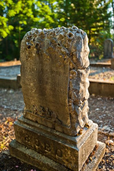Inscription Reads:<br /> <br /> Sarah A.E. Bobo<br /> <br /> Pine Grove Cemetery, Nevada City, Ca.