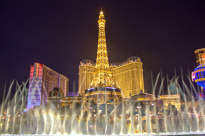 The Paris via the Bellagio Water Show