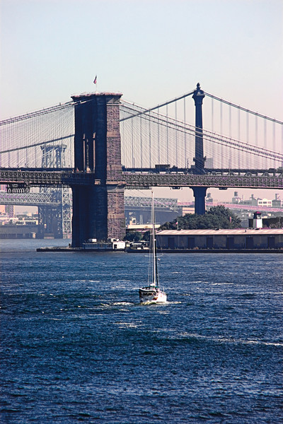 <center>Brooklyn and Manhattan Bridges  <br><br>New York, NY</center>