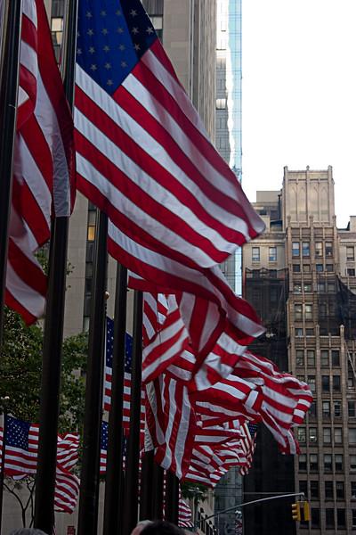 <center>Flags at Rockefeller Center  <br><br>New York, NY</center>