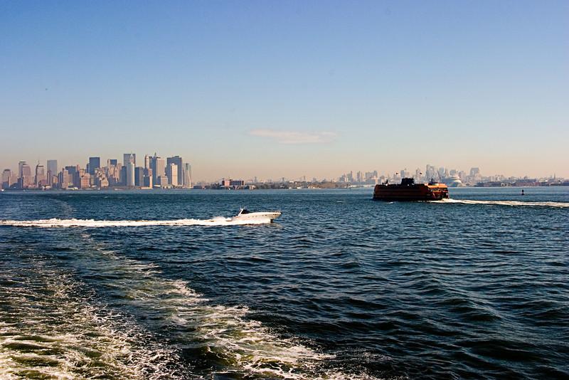 <center>Passing Ferry  <br><br>New York, NY</center>