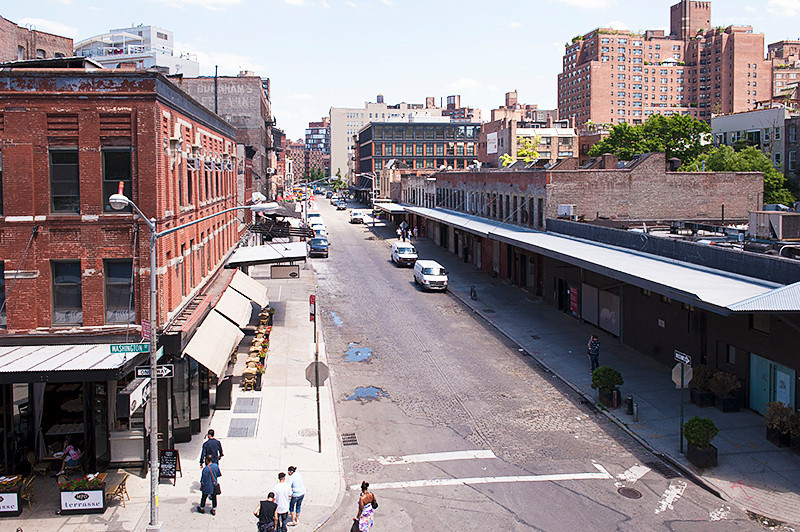 The High Line view from the southern terminus at Gansevoort Street