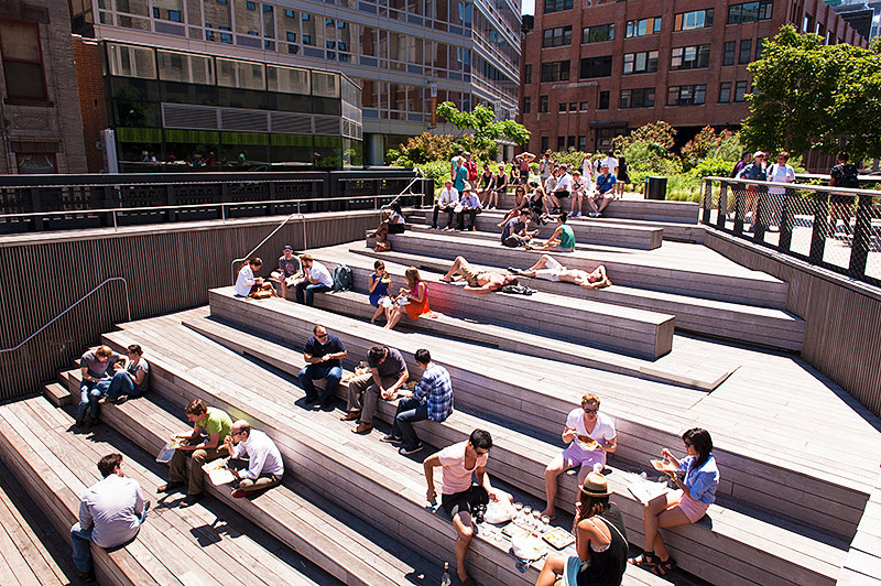 The High Line 10th Avenue Ampitheater just south of 17th Street