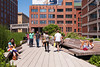 The High Line sundeck between 15th and 14th Streets