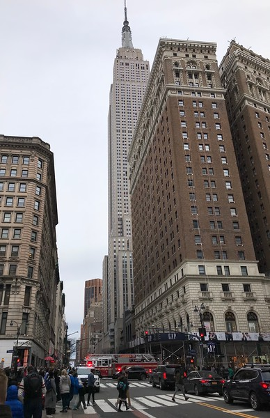 Empire State Building from 6th Avenue & West 34th Street