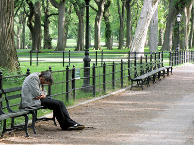 """Despair in Central Park"""