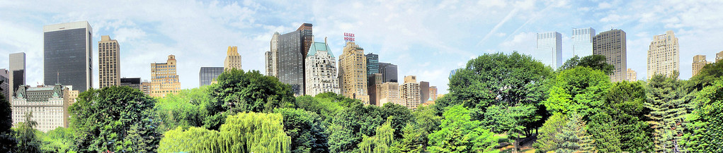 Panoramic view from Central Park