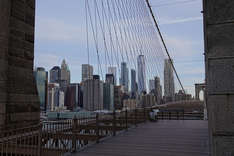 Manhattan from the Brooklyn Bridge.