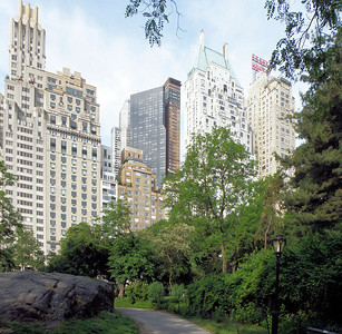 View of the Essex House from Central Park