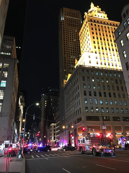 Looking south down 5th Avenue at East 57th Street.