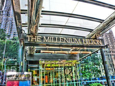 The Millenium Hilton in Lower Manhattan, New York