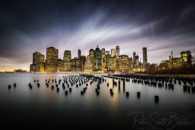 New York Skyline - 5 Minute Exposure