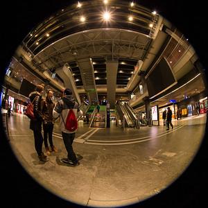 Begegnung am Treffpunkt im Bahnhof SBB, Bern