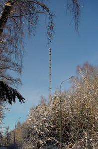 Meteotower in winter