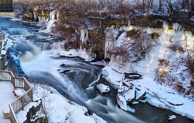 Along the Cuyahoga Falls