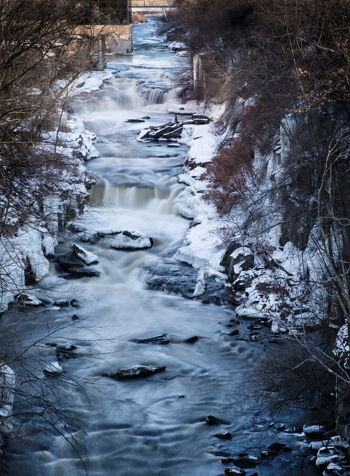 The Cuyahoga Falls in Winter