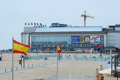 The Casino in Ostend (Oostende), Belgium, situated along the beach promenade (Zeedijk).
