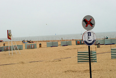 The beach in Ostend (Oostende), Belgium.