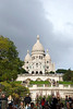 Paris, Montmartre - The Basilica of Sacre Coeur, as seen from the base of the butte Montmartre