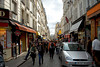 Paris, Montmartre - walking up Rue de Steinkerque to the base of the Basilica Sacre Coeur