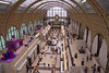 Paris, Musée d'Orsay, the main hall as taken from the pair of towers at the rear of the hall