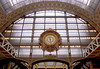 Paris, Musée d'Orsay, front end of main hall with architect Victor Laloux's (1898-1900) clock.